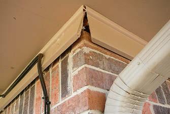 Brick frieze trim failure image