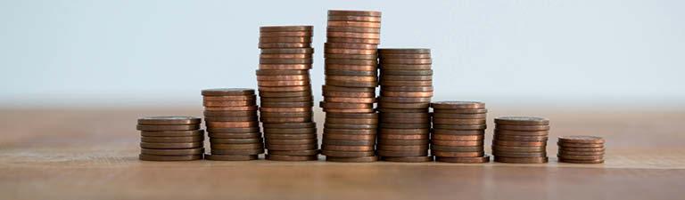 stacks of pennies image