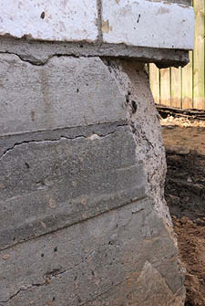 corner pop in slab foundation