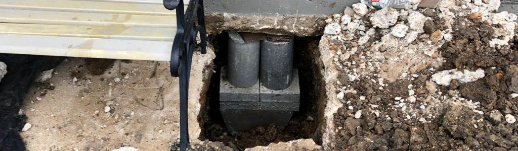 Concrete Pressed Pile Foundation Repair