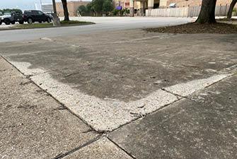 grind down concrete tripping hazards