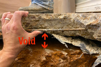void under raised foundation