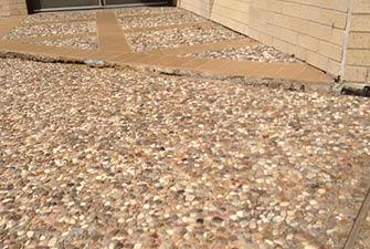 sunken concrete problems