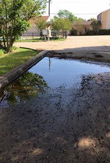 Uneven concrete surfaces cause puddling