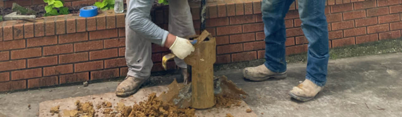drilled bell bottom pier foundation repair
