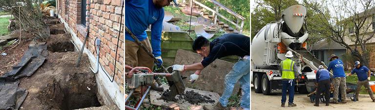 bell-bottom pier foundation repair