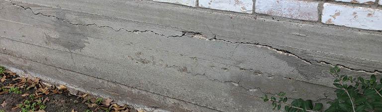 horizontal cracks in foundation beam