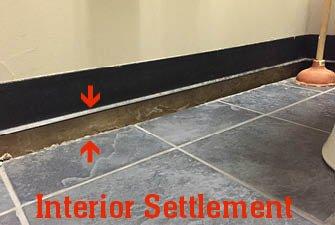 slab on grade foundation repair with polyjacking