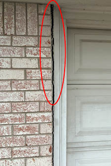 vertical damage signs of foundation problems