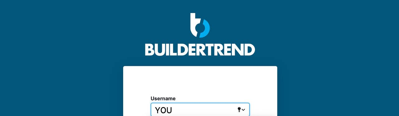 Log in to BuilderTrend