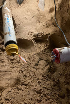 under-slab drain lines under your home for hydrostatic testing