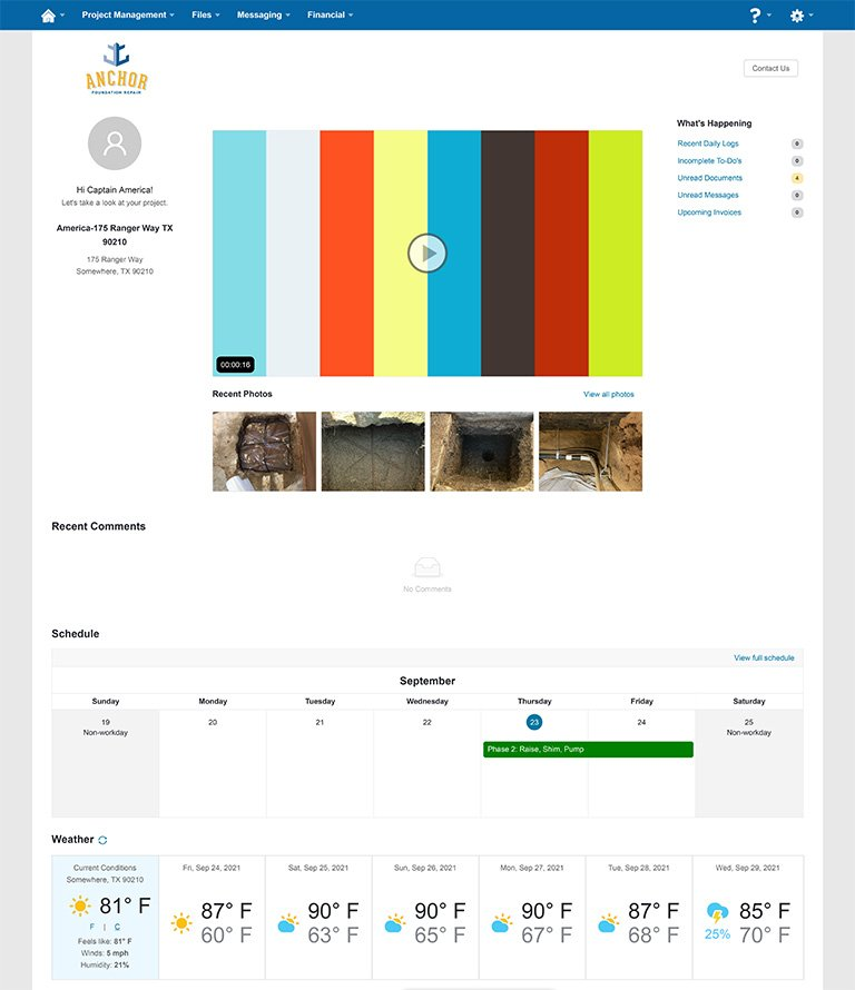 BuilderTrend Summary Page for Anchor