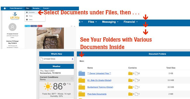 view your files from Anchor Foundation Repair